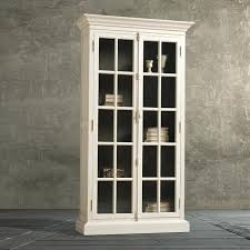 glass front bookshelf white wooden tall book cabinet with door and five shelf with wood bookcase glass front bookshelf