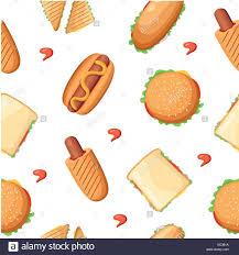 Restaurant P L Example Fast Food Restaurant Menü Bunte Symbole Sammlung Mit Hotdog Pizza
