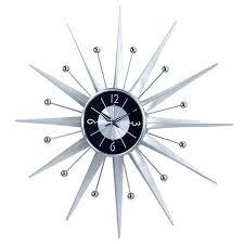 vintage sunburst clock nelson style silver starburst wall clock vintage elgin starburst clock