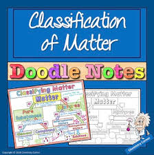 Classification Of Matter Flow Chart Worksheet Chemistry Classifying Matter Doodle Notes