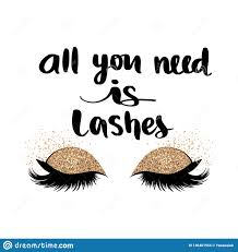 Hand Sketched Lashes Quote Calligraphy Phrase For Beauty