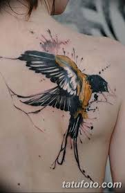 фото тату ласточка для девушки 24122018 150 Tattoo Swallow For