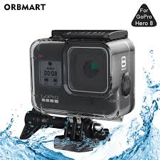 60m Waterproof Case Covers <b>9H Tempered Glass</b> For Gopro Hero 8 ...