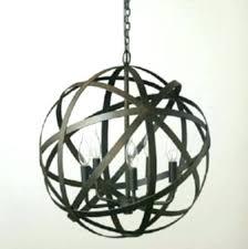 large metal orb large orb chandelier large orb chandelier metal strap aged black and similar large wooden orb chandelier