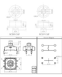 tactile button assortment com 10302 sparkfun electronics drawing