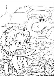 Small Picture The Good Dinosaur coloring picture Disney sznezk Pinterest
