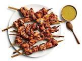 anticuchos de pollo  grilled chicken skewers