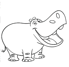 Hippo Coloring Pages Hippopotamus Coloring Page Hippo Pages Cute