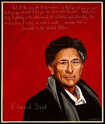 edward said americans who tell the truth edward said portrait by robert shetterly