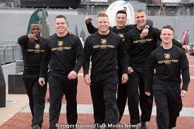 roger barone photo via photos from philly the us army rugby team enters the battleship new jersey