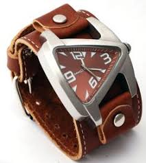 dark brown brown and watches nemesis blbb011b men s futuristic teardrop brown dial wide leather cuff band watch watches
