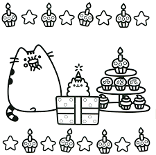 Printable Christmas Cat Coloring Pages With Present Diagnostic