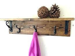 Vintage Coat Rack With Shelf Impressive Wooden Wall Mounted Coat Rack With Shelf Vintage Lyonsden