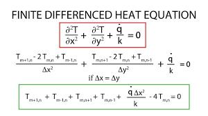 heat transfer l12 p1 finite difference heat equation