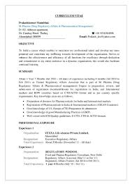 Regulatory Affairs Resume Sample Prakash Cv
