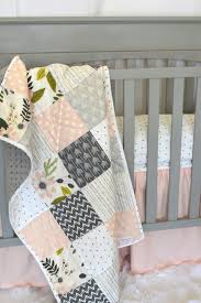 crib bedding girl toddler quilt