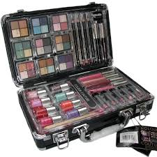 colour couture 36 piece vanity case cosmetic makeup train box gift set
