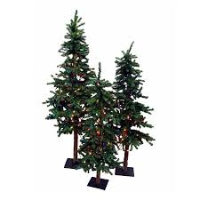 Christmas Central 3-Piece Alpine Christmas Tree Outdoor Christmas Decoration