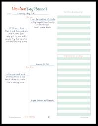 Personal Vacation Planner Vacation Planner Printables