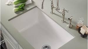 white single bowl kitchen sink. Interior Architecture: Alluring White Single Bowl Undermount Kitchen Sink At Popular Fireclay Sinks For 2