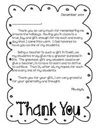 Thank You Letter Holiday From Teacher To Students By The Moxie