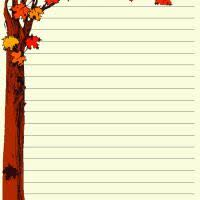 birthday writing paper fall writing paper