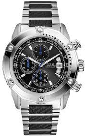 guess u18507g2 waterpro black dial stainless steel chrono men s guess u18507g2 waterpro black dial stainless steel chrono men s watch