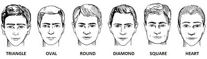 long and short hairstyles for men according to face shape