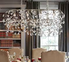 bella crystal rectangular chandelier pottery barn regarding awesome house rectangular chandelier crystal designs