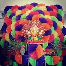 ganpati decoration ideas for home peacock house style