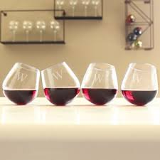 room modern camille glass: personalized tipsy wine glasses set of