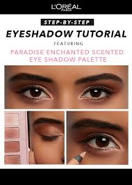 easy eyeshadow tutorial featuring l oreal paris enchanted scented eyeshadow palette