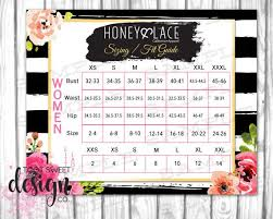 Honey And Lace Sizing Fit Guide Honey Lace Size Chart