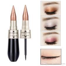 2018 hot hengfang double head eyeshadow eyeliner liquid eye shadow black eye liner dual use glitter eyeshadow eyes make up kits how to apply eye makeup how