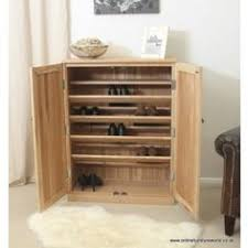mobel oak solid large shoe cupboard bonsoni mobel oak hideaway