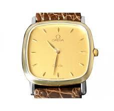 omega de ville mens midsize dress watch solid 18k gold and omega de ville mens midsize dress watch solid 18k gold and stainless steel