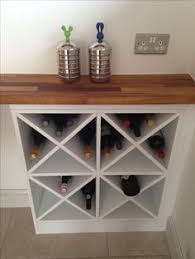 DIY wine rack -- make two of these on either side and one in the