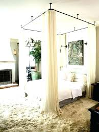 King Size Canopy Bed With Curtains Full Of – House Creative Design ...