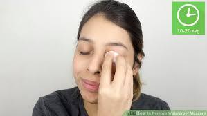 image led remove waterproof mascara step 10