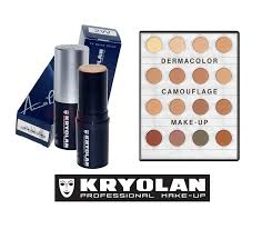 studio fx vancouver bc canada kryolan tv paint sticks and dermacolor camouflage kryolan make up