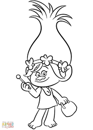 Trolls movie from dreamworks and from the creators of shrek, watch the trailer or the full movie to appreciate this lovely poppy trolls. Trolls World Tour Coloring Pages Coloring Home