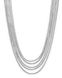 john hardy clic chain five row necklace 16 18 silver women jewelry necklaces clic fashion trend john hardy replica jewelry whole uk factory