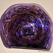 20 dark purple swirl wall platter