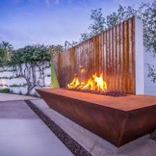 rusted corrugated metal fence. Wonderful Corrugated Backyard Fire Pit With RustedMetal Look A Rusted Corrugated Metal Fence   To Rusted Corrugated Metal Fence