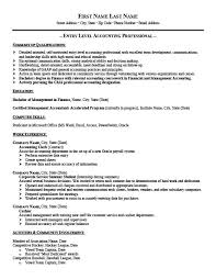 Resume For Entry Level Classy EntryLevel Accountant Resume Template Premium Resume Samples