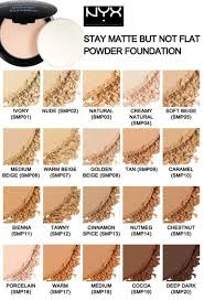 Nyx Foundation Color Chart Nyx Stay Matte Powder Foundation Swatches Hair Makeup