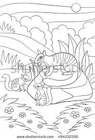 Small Picture Coloring Pages Mother Numbat Her Little Stock Vector 584035930
