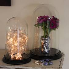 glass bell jar dome with wooden base by lisa angel