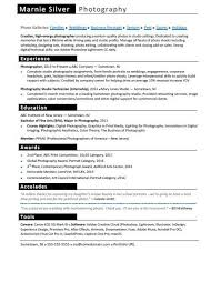 Resume Template 2017 Extraordinary Photographer Resume Sample Monster