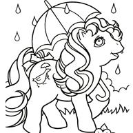 Kleurplaat My Little Pony Is Verkleed Als Conducteur